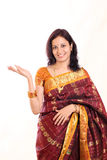 Excited Indian woman Stock Photo