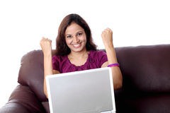 Excited Indian woman Stock Photos