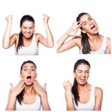 Excited, insight girl composite Stock Photos