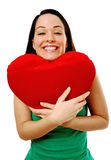 Excited lady in love Stock Photos