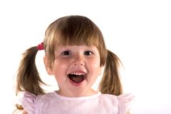 Excited laughing little girl Stock Photo