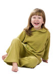 Excited laughing little girl Stock Images