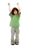 Excited little boy Royalty Free Stock Image