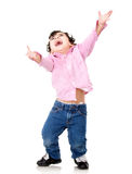 Excited little boy Royalty Free Stock Photo