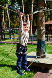 Excited little boy having fun Royalty Free Stock Photos