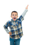 Excited little boy shouting Royalty Free Stock Photos