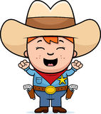 Excited Little Cowboy Stock Images