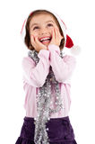 Excited little girl looking up Stock Photography