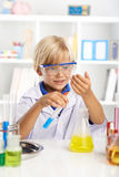 Excited little scientist Stock Photos