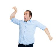 Excited man Royalty Free Stock Image