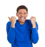 Excited man Stock Photography