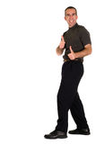 Excited Man. Full body view of a man looking excited and giving two thumbs up Royalty Free Stock Photos