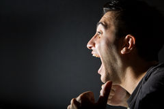 Excited man Stock Images