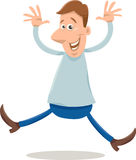 Excited man cartoon illustration Royalty Free Stock Images