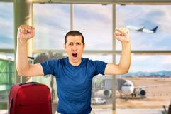 Excited man celebrating the success Royalty Free Stock Images