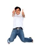 Excited man isolated Royalty Free Stock Images