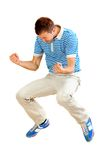 Excited man jumping Stock Photography