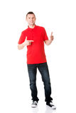 Excited man pointing Royalty Free Stock Images