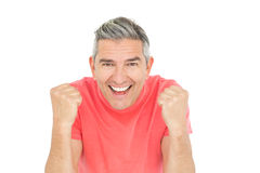 Excited man showing his happiness Royalty Free Stock Photos