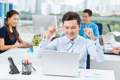 Excited manager Stock Photography