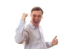 Excited mature man Stock Photos