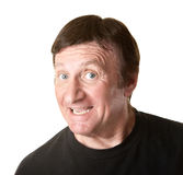 Excited Mature Man Stock Photography