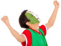 Excited Mexican man Stock Images