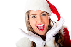 Excited Mrs Claus Royalty Free Stock Image