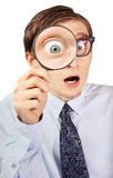 Excited nerd Stock Images