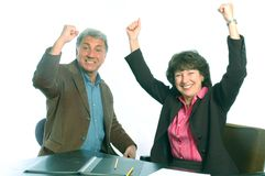 Excited partners Royalty Free Stock Photo