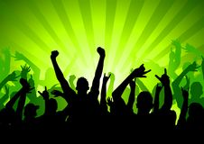 Excited Party Crowd stock illustration