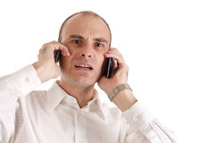 Excited Phone Call Royalty Free Stock Images