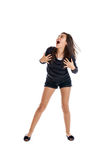 Excited preteen girl Stock Photography