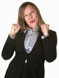 Excited Pretty Businesswoman Royalty Free Stock Photos