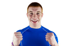 Excited rugby player looking at the camera Royalty Free Stock Image