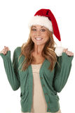 Excited santa Royalty Free Stock Images