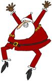 Excited Santa. This illustration depicts an excited Santa Claus jumping up and waving his arms Royalty Free Stock Photography