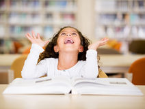 Excited schoolgirl Stock Photography