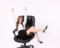 Excited Secretary Stock Images