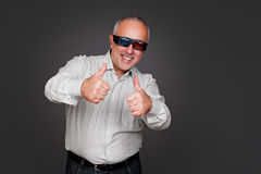 Excited senior man with 3d glasses Royalty Free Stock Photography