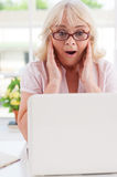 Excited senior woman. Stock Photography