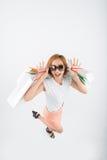 Excited shopaholic Stock Image