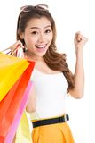 Excited shopaholic Stock Photography