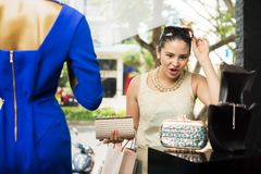 Excited shopaholic Royalty Free Stock Photo
