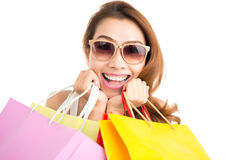 Excited shopping Royalty Free Stock Images