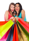 Excited Shopping Day Royalty Free Stock Photos