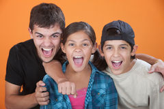 Excited Siblings Stock Photography
