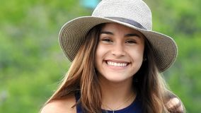 Excited and smiling teen girl. A young pretty Colombian teenage girl stock video footage