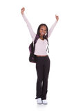 Excited Student Girl Stock Image