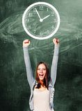 Excited student woman Stock Photography